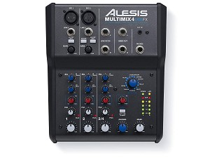 Alesis Multimix 4 USB FX - 4-Channel Mixer with Effects & USB Audio Interface