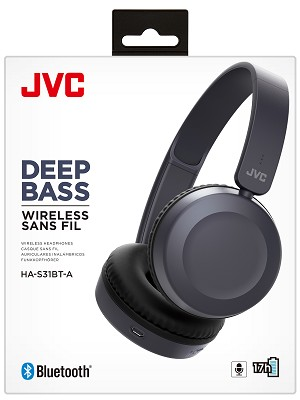 JVC Bluetooth On-Ear with Mic & Remote Headphone - HA-S31BT
